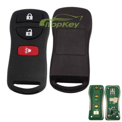 For Nissan X-TRAIL remote 2+1 button FCCID=KBRASTUIS