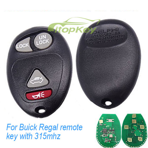 For Buick Regal remote key with 315mhz