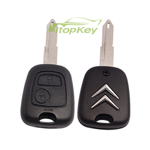 For Citreon remote key with two buttons with 46 chip &206 blade
