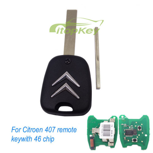 For Citroen 407 blade remote key with PCF7961 46 chip