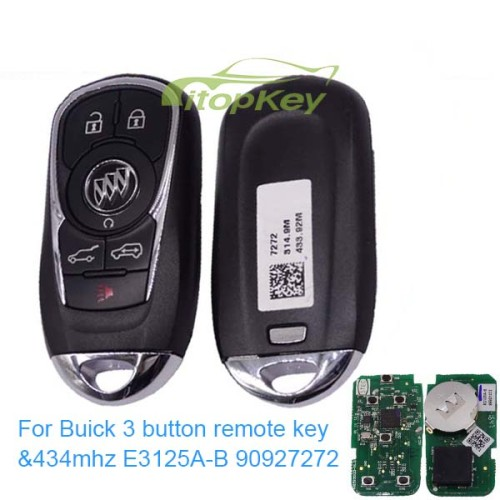 For Buick 3 button remote key with 434mhz