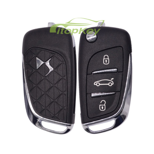 For Citroen DS 3 button remote key with 434mhz FSK model PCF7941 chip