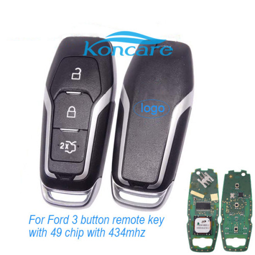 For original Ford 3 button remote key with 49 chip with 434mhz CMIIT ID:2013DJ6919 A2C31244302 DS7T-15K601-DD