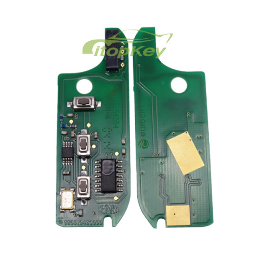 For Fiat original 3 button remote key for FITA DOBLO-PUNTO with 433mhz with SIP22 blade 7946 chip , the PCB is original (M.Marelli BSI System)