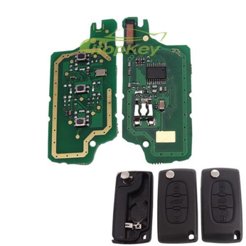 For Peugeot 2B Flip Remote Key PCF7961 46 chip FSK model , Battery not on PCB