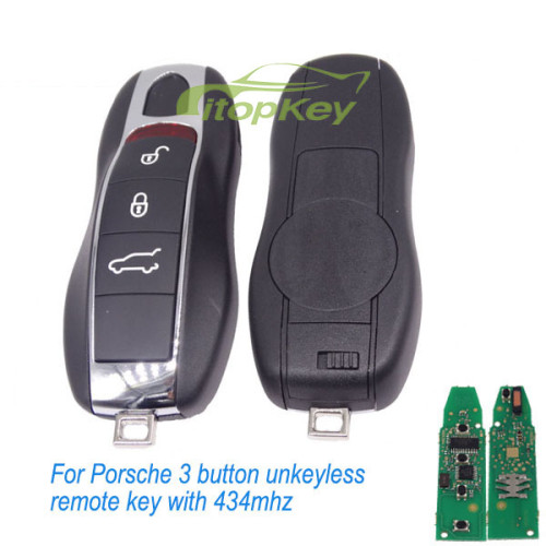 For Porsche 3B unkeyless remote key with 315mhz/434mhz