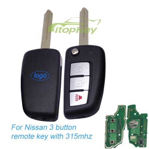 For Nissan 3B modified remote key 315mhz VDO modle