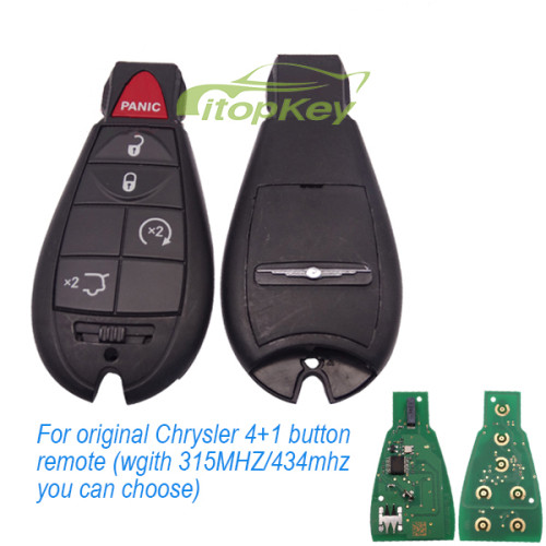 For original Chrysler 4+1 button remote with 434mhz