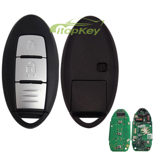 For Nissan X-Trail button remote keyless key ,with 434mhz,PCF7945M(HITAG AES)