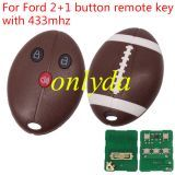 For Ford 2+1 button remote key with 315/433mhz