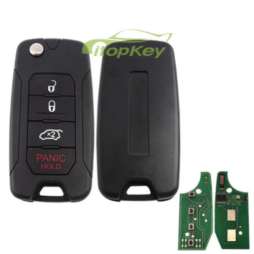 4B flip remote key 434mhz with 4A chip with original PCB and after market keys shell