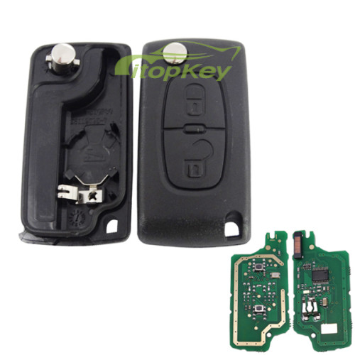 For Peugeot 2B Flip Remote Key PCF7961 46 chip ASK model with VA2 and HU83 blade , please choose the key shell