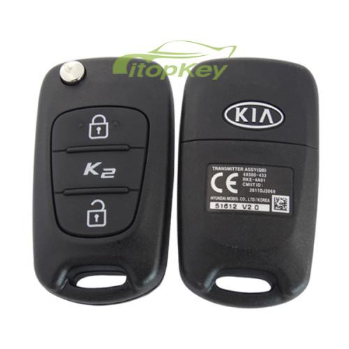 original Kia K2 2 button remote key with 434mhz Transmitter ASSY(QB) 4X000-433 RKE-4A01 CMIIT ID:2011DJ2069