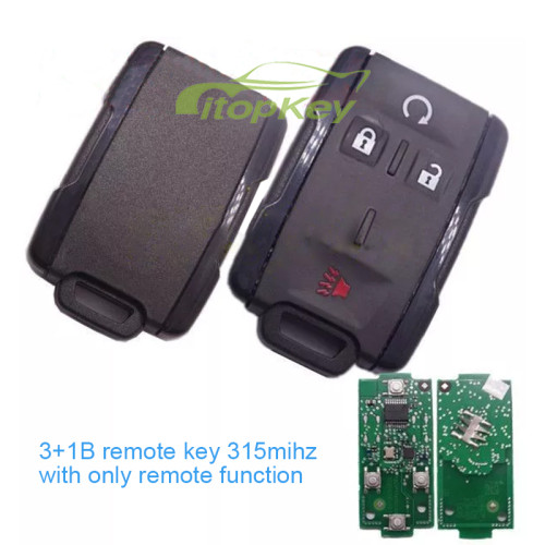 4 Button remote key with 315mhz black color
