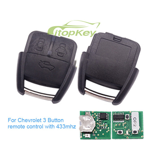 For Chevrolet 3 Button remote control with 433mhz for Brazil market