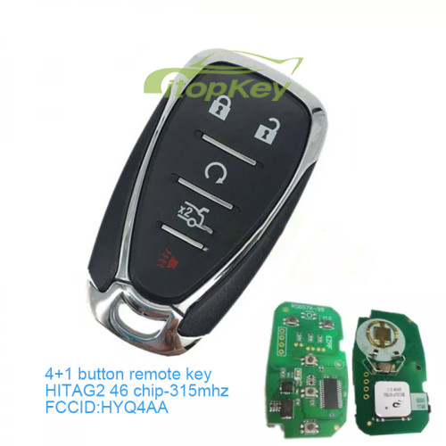 4+1 Button remote key with HITAG2 46 chip-315mhz FCCID:HYQ4AA IC:1551a-4EA