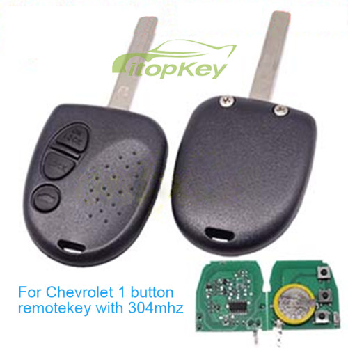 For Chevrolet 3 button remote key with 304mhz( no )