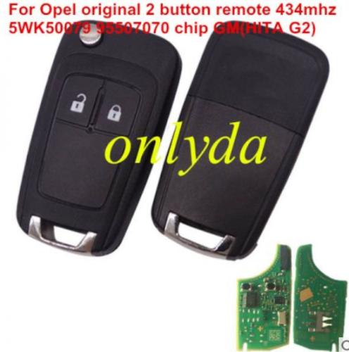 For Opel-R11Aoriginal Opel original 2 button remote key with 434mhz 5WK50079 95507070 chip GM(HITA G2) chip