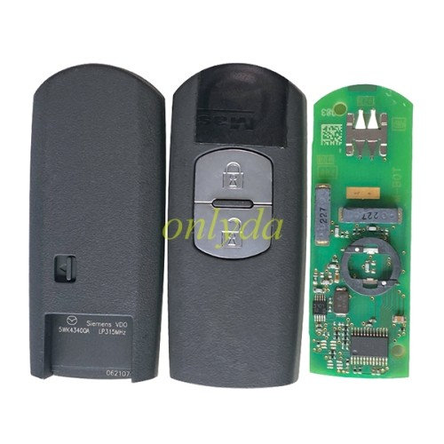 For Mazda Original 2 button keyless smart remote key with 315mhz/433mhz with hitag pro 49 chip