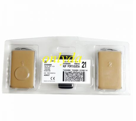 Genuine Volvo smart card 3+1 button 433.92 Mhz  chip :8A (Tiris DST AES ) CMIIT ID :2015DJ3461 IC:4008C-HUF8432 FCC ID YGOHUF8432 Made in Portugal 3pcs cards /set