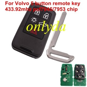 For Volvo 5B PCF7945/7953 chip 433.92MHZ