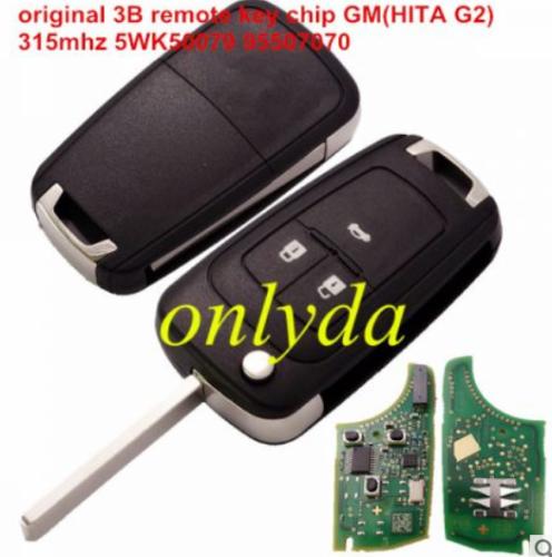 original 3B remote key with 315mhz 5WK50079 95507070 chip GM(HITA G2) 7937E chip