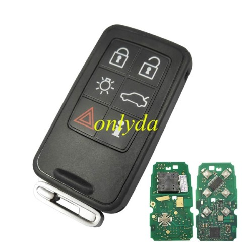smart keyless 6 button remote key with 434mhz with 46 chip(HITAG2)