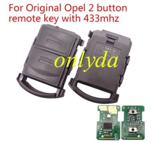 For Original Opel 2 button remote key with 433mhz with 5WK48668 CE:0499 IND:00 FKW:46/16 EL.IND:00 Duns:51-055-8799