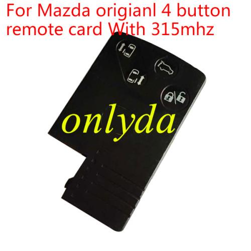 For Mazda original 4 button remote card With 315mhz