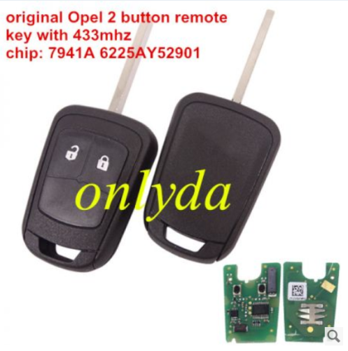 For Opel-R10original PCB is original shell is OEM frequency;433Mhz chip;7941A6225AY52901 FCCID; ZY13246338G Car model,