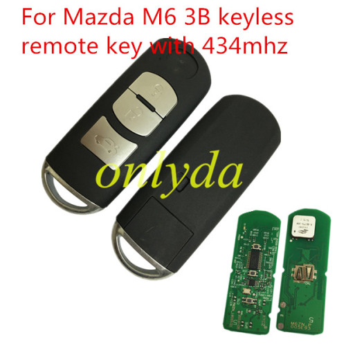 For Mazda M6 3 button remote key with 434mhz