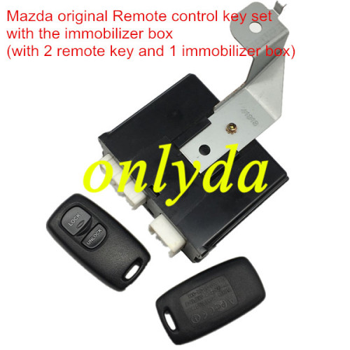 For Mazda original remote control key set with the immobilizer box (with 2 remote key and 1 immobilizer box)