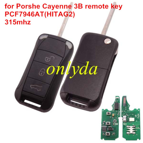 Porshe Cayenne 3 button remote key with PCF7946AT(HITAG2) with 315mhz &LED light