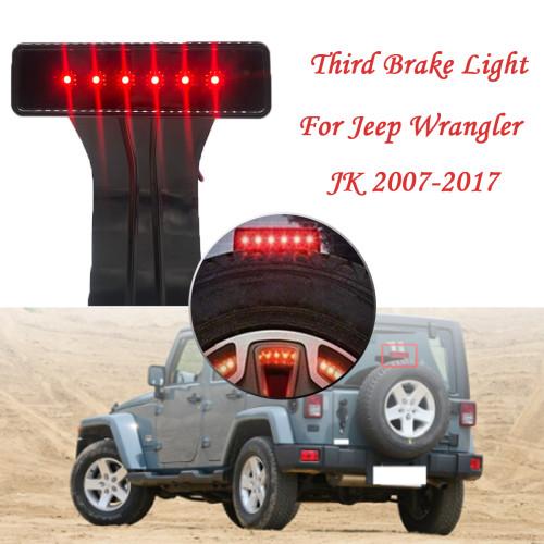 Brake Tail Light 3rd LED Black with Smoke Lens Wholesale Price  For Jeep Wrangler JK 07-17 Amazon,Ebay,Wish Hot Seller