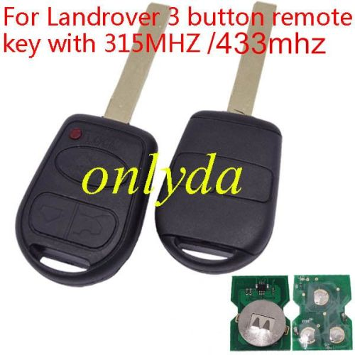 For Landrover 3 button remote key with 315MHZ/433MHZ