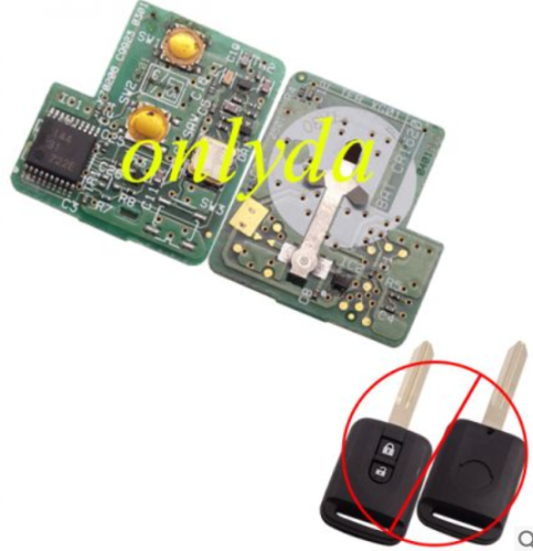 For Original Nissan 2 button remote key with 315mhz PCB only