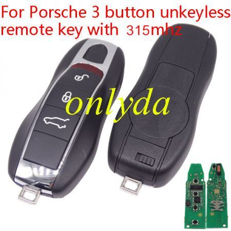 Porsche 3 button unkeyless remote key with 315mhz Porsche Cayenne (2010+) Porsche Panamera(2010+) Porsche Macan(2010+)rsche Macan(2010+)
