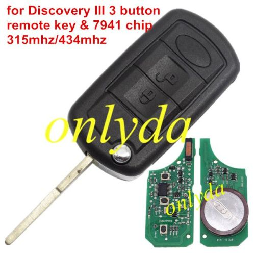 For Discovery III 3B remote key with 7941 chip 315mhz/433mhz
