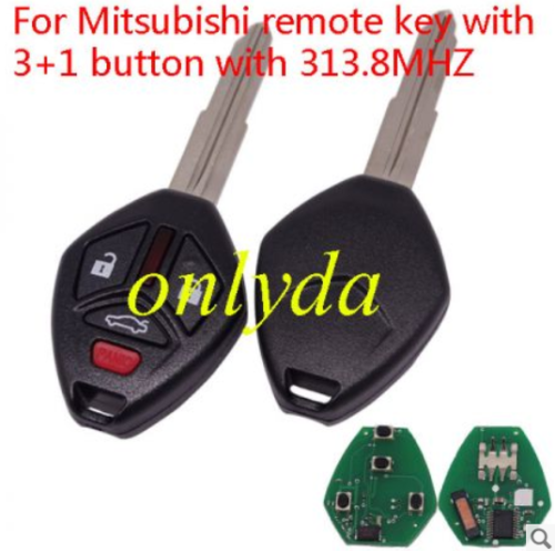 For Mitsubishi remote key with 3+1 button with 313.8MHZ