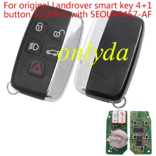 For original for Landrover smart key 4+1 button 315MHZand 434mhz with 5EOU40457-AF