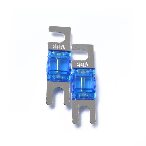 Pack of 5  Blue AFS Mini ANL 60A Fuse Nicked Plated Fuse Wholesale Price  directly fit for Car Audio