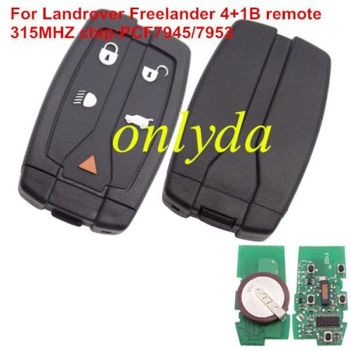 For Freelander 4+1B remote with pcf7945/7953hip 315MHZ/433mhz