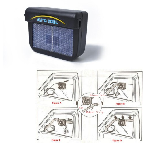 Solar Powered Car Auto Cooler Ventilation Fanwith Rubber Strip Wholesale Price  for nomal cars Ebay,Wish hot seller
