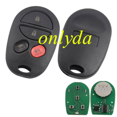 toyota 4 button remote with 315mhz