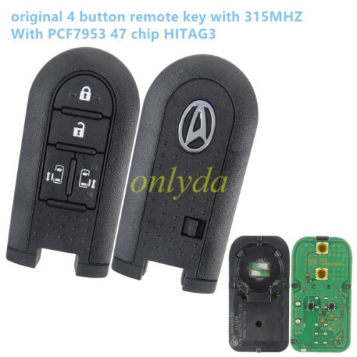original 4 button remote key with 315MHZ with hitag3 PCF7953 47 chip