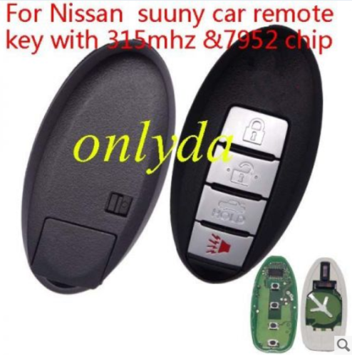 For Nissan suuny car remote key with 315mhz with 7952 chip