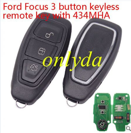 For Ford Focus 3 button keyless remote key with 434mhz fcc ID :KR55WK48801
