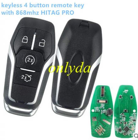 keyless 4 button aftermarket remote key with 868mhzHITAG PRO