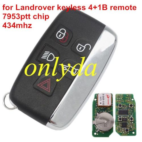 keyless smart key 4+1 button 434MHZ with 7953ptt chip