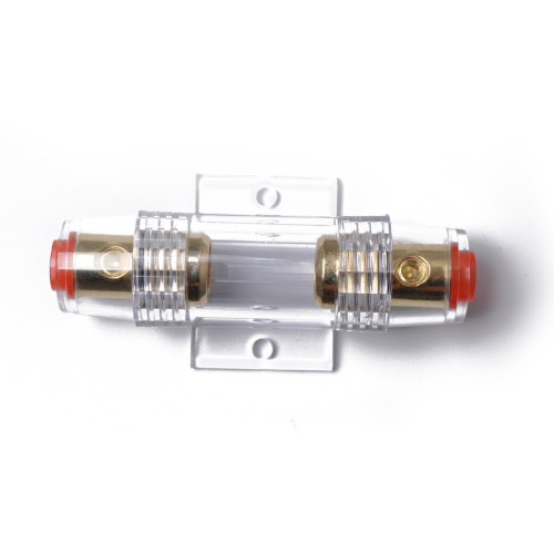Car Audio Inline AGU Fuse 4/8 Gauge AGU Fuse Holder Gold Plated With 5pcs Fuse 60A Wholesale Price